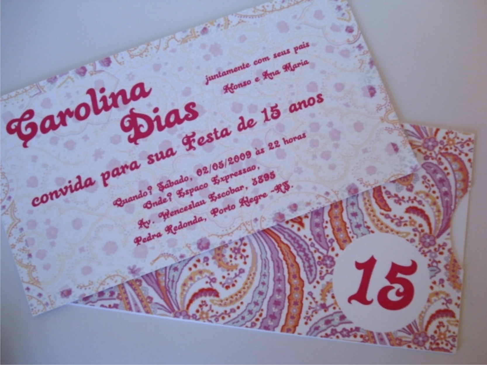 Convites De 15 Anos Modelo 15 Anos Bandana